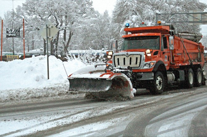 City and county plow trucks are out in full force this week to deal with an ongoing winter storm. The National Weather Service in Grand Junction predicts rain and snow through Thursday night or Friday morning.