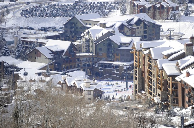 The fully opened luxury condominium projects One Steamboat Place, middle, and Edgemont, right, have helped transform the base of Steamboat Ski Area in 2010. Edgemont saw a $1.05 million sale in December. One Steamboat Place, whose developers are vowing to resolve a $100.48 million foreclosure filing by their construction lenders had a $3.05 million sale in early October.