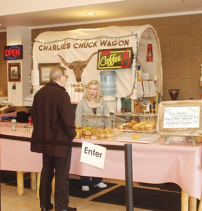 Charlie's Chuck Wagon is serving homemade baked goods and breakfast sandwiches next to passenger check-in lines at Yampa Valley Regional Airport, and owner Charlie Epp has quickly begun serving cold deli sandwiches in secure passenger waiting areas in the terminal after Routt County's concession agreement with another restaurant operator fell out earlier this month.