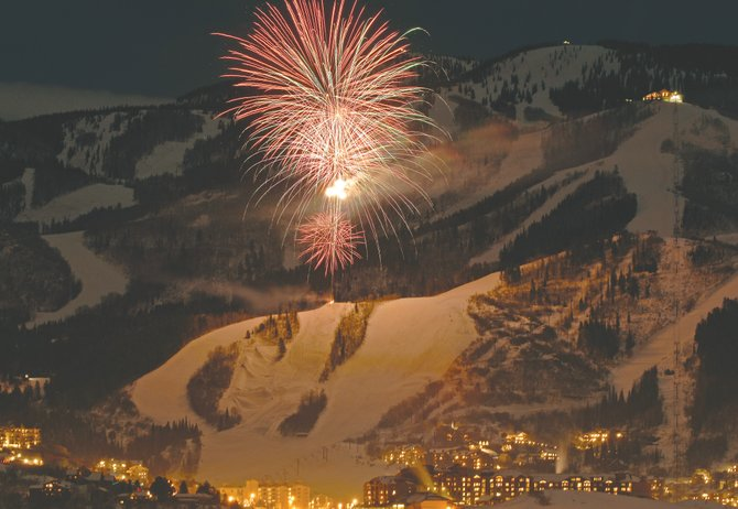 Steamboat Ski Area will help usher in the new year with a fireworks celebration starting at about 7 p.m. today.