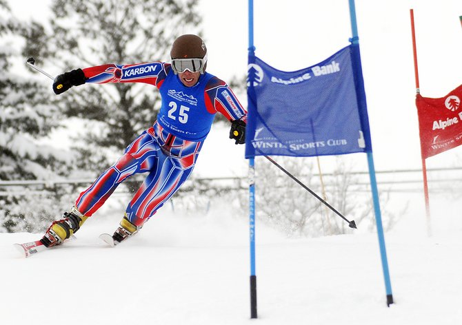 Steamboat skier Charlie Dresen skis Friday in a sprint classic Telemark event in Steamboat Springs. He finished second in the event. Shane Anderson placed first.