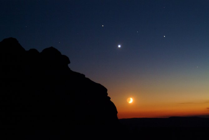 During the first three weeks of May, the planets Venus, Mercury, Mars, and Jupiter will cluster in our predawn sky for some spectacular groupings. In August 2010, a similar gathering of planets graced our evening sky. Seen in