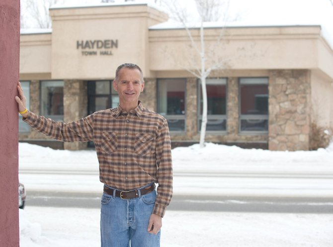 David Torgler has stepped into the position of Hayden's town manager.