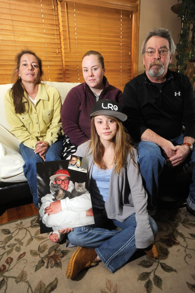 The McNamara family, from left, Bridget, Meghan, Katie and Kevin, is one of the numerous Routt County families affected by suicide in 2010. Bridget and Kevin lost their son, Darby, to suicide on July 4, 2010.