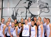 The Moffat County High School girls basketball team is, front row, from left, Maddy Jourgensen, Callie Papoulas, Melissa Camilletti, Britteny Ivers, Nike Cleverly, Sassy Murray and Kori Finneman. In the back row, from left, are Molly Nations, Kyleen Ellgen, Lisa Camilletti, Makayla Camilletti, Annie Sadvar, Lauren Roberts, Bailey Hellander and Adrie Camp.