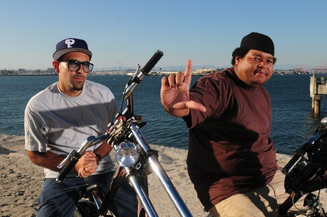 Thes One, left, and Double K make up People Under the Stairs, an independent hip-hop group based in Los Angeles. The duo plays at 9 p.m. Sunday at Ghost Ranch Saloon. Tickets are $10 in advance and $15 the day of the show.