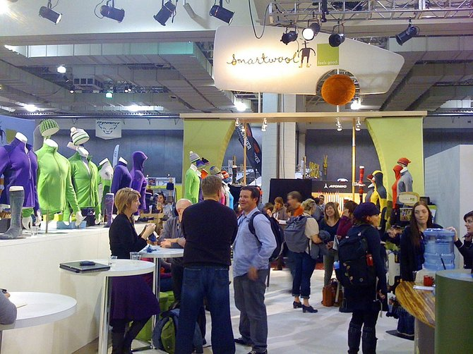 SmartWool was one of the local businesses attending the Outdoor Retailer Winter Market trade show in Salt Lake City. SmartWool had 75 mannequins displaying their fall 2011 line of apparel and accessories.