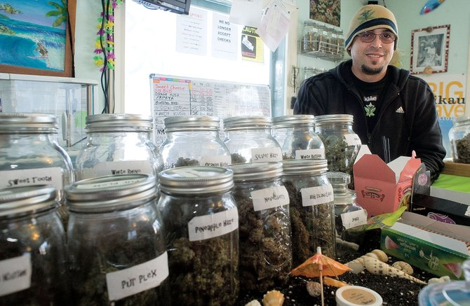 Brent Mundy manages Alohas medical marijuana dispensary in Milner. Alohas is looking into whether it can add more locations, including one in Steamboat Springs.  