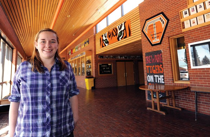 Annie Grubbs, 16, was chosen from among 60 local youths ages 14 to 16 to receive the 2010 Corpsmember of the Year award from Steamboats Community Youth Corps. 