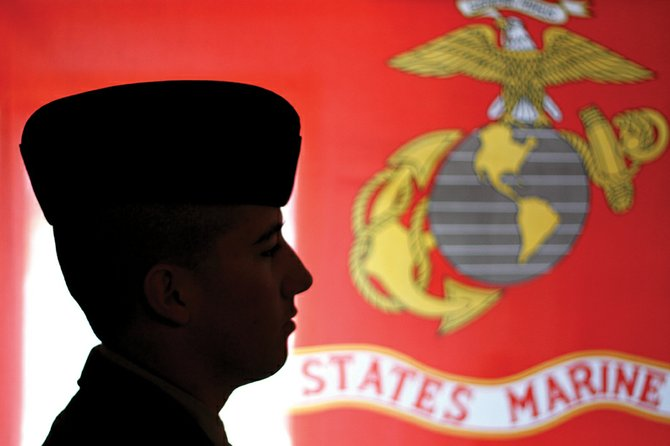 Pvt. Taylor Fredrickson, a 2010 Moffat County High School graduate, finished boot camp Jan. 28 for the U.S. Marine Corps. He completed his final four days of training despite a stress fracture in his left leg.