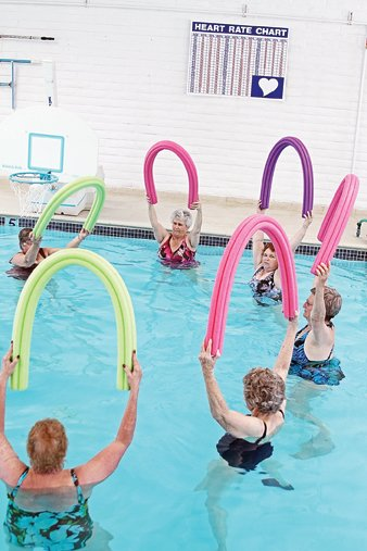 Area residents participate in Senior Swimnastics at the American Legion Post 62 in Craig. The American Legion has decided to close the post pool March 1, unless $15,000 can be raised in donations and pledges to meet expenses.