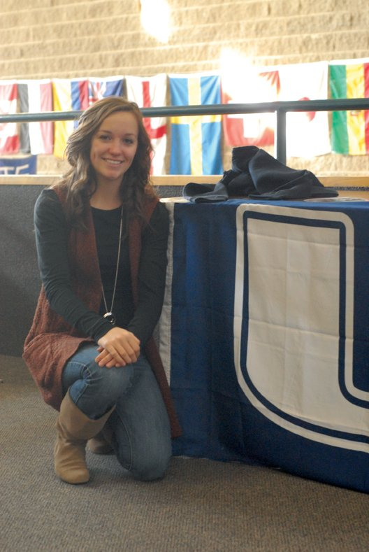 Nike Cleverly, a senior at Moffat County High School, was surprised to learn Thursday that she was accepted into the Utah State University ambassador program. She was one of 20 people, and the only one from Colorado, selected for the program.