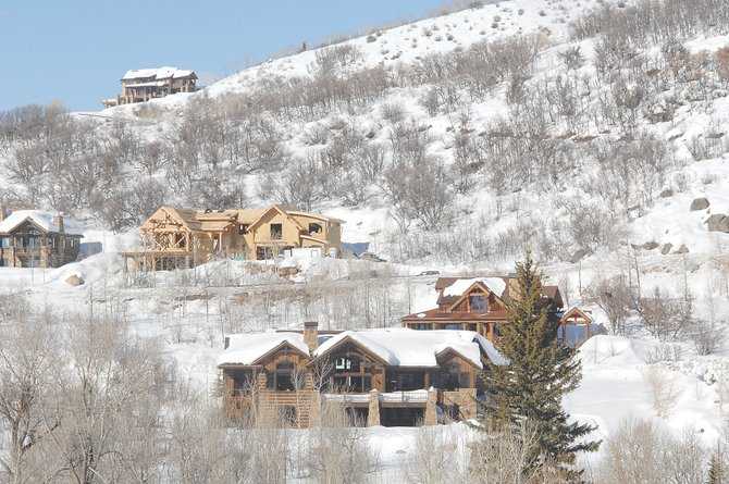 Some Steamboat Realtors are cautiously optimistic that a modest uptick in lots sales in the second half of 2010 could signal a return of new construction a little sooner than expected. This single-family home is being built on North Steamboat Boulevard in The Sanctuary.