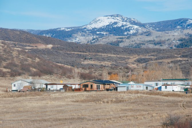 The proposed 70-acre Overlook Park subdivision begins immediately west of the West Acres Mobile Home Park and offers views of Soda Mountain. If approved, it could provide 139 single-family building lots within city limits.