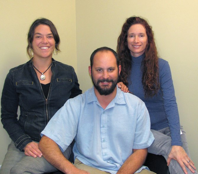 Massage therapists Sarah Braat, Jeremy Kassib and Wendy McMahon offer numerous healing massage specialties at Yampa Valley Medical Center's Integrated Health clinic.