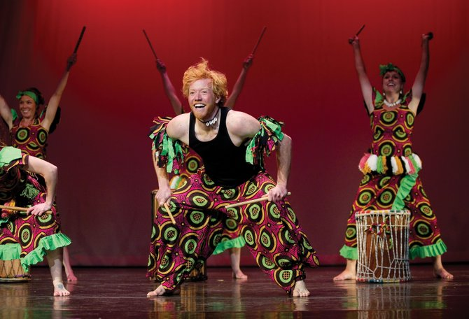 Roddy Beall dances to African beats during a dress rehearsal of Montage in Motion, Steamboat Dance Theatre's annual concert, on Monday. A two-hour show opens at 7 p.m. Thursday at Steamboat Springs High School.