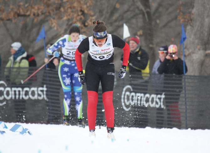 Steamboat's Michaela Frias finishes in second place Wednesday in the J1 women's 10K classic race at the United States Ski and Snowboard Association Cross-County Junior Nationals in Minneapolis.