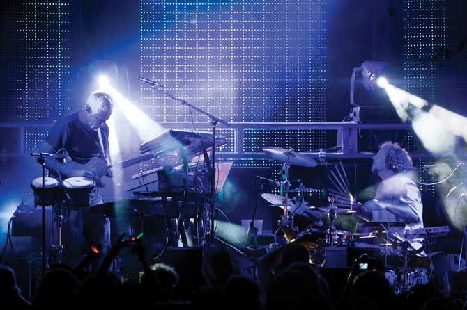 EOTO, an electronic duo featuring Michael Travis and Jason Hann, of The String Cheese Incident, plays at 9 p.m. Monday at Ghost Ranch Saloon. Tickets are $15. Ghost Ranch has jumped on the growing trend of live electronic music acts like EOTO, which are garnering big crowds.