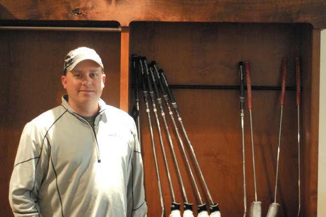 Jason Back, the new head golf professional at Yampa Valley Golf Course in Craig, stands in the renovated pro shop Friday at the golf course. Back said he hopes to have the course open for play by the first week of April.