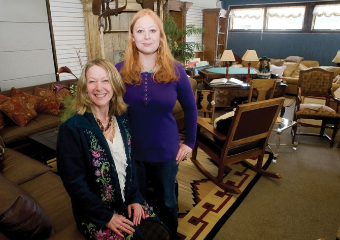 Evlyn Hukriede and her daughter Andrea are the new owners of the antique and furniture store Steamboat Home Consignments.
