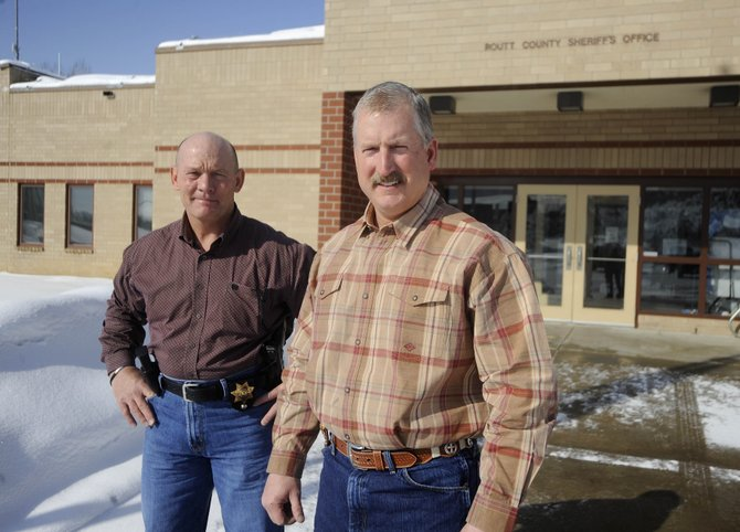 Routt County Sheriff Garrett Wiggins and his Undersheriff Ray Birch say they have been putting in 60- to 70-hour workweeks in order to shore up the office they took charge of Jan. 11.