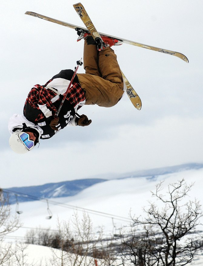 Steamboat Springs' Ryan Dyer flies through a cork-720 during December's U.S. Freestyle Ski Team selections event in Steamboat. Dyer earning a spot on the U.S. Ski Team was just part of why the Steamboat Springs Winter Sports Club freestyle program was named Program of the Year.