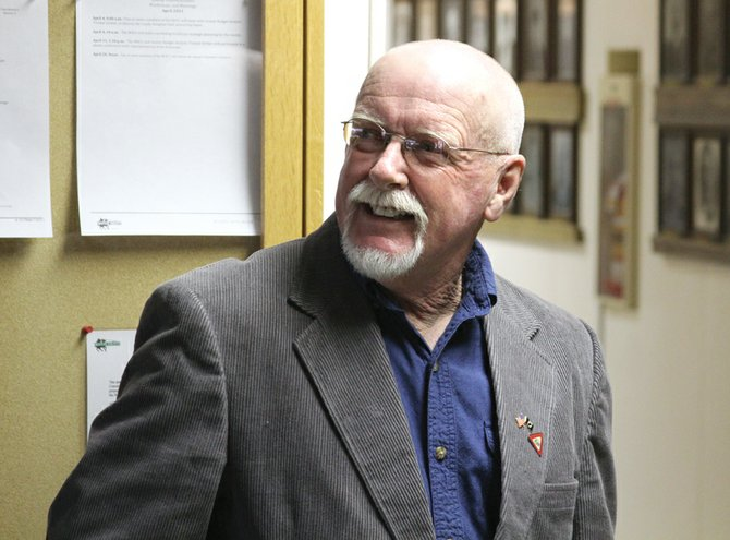 Terry Carwile, shown here Tuesday night at the Moffat County Courthouse, was elected Craig mayor in the municipal election. Carwile received more than 63 percent of the vote, securing a win over his opponent, Frank Moe.