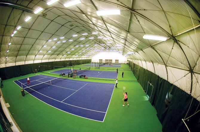 The indoor courts were full for the 1 p.m. league at the Tennis Center at Steamboat Springs on Wednesday afternoon. As city officials begin discussions about how to spend accommodations tax revenues that will be unallocated in 2014, the Tennis Center's Jim Swiggart is suggesting a focus on improving existing city facilities, such as the Tennis Center, rather than taking on new projects.