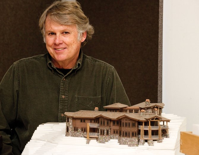 Architect Joe Robbins' work will be featured in an art show, Celebrate Architecture, at the Depot Art Center. The opening reception is at 5:30 p.m. Friday at the Depot.