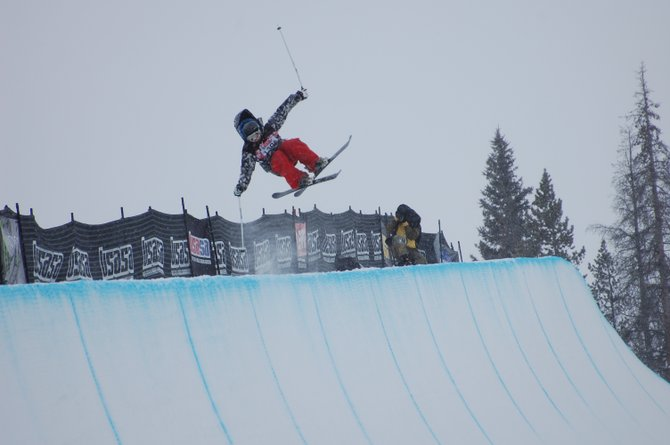 Steamboat skier Conor Garrecht-Connelly sails at the top of the halfpipe at the United States of America Snowboard Association National Championships in Copper Mountain. Garrecht-Connelly and the rest of the Steamboat Springs Winter Sports Club freestyle skiers wrapped up their season at the event.