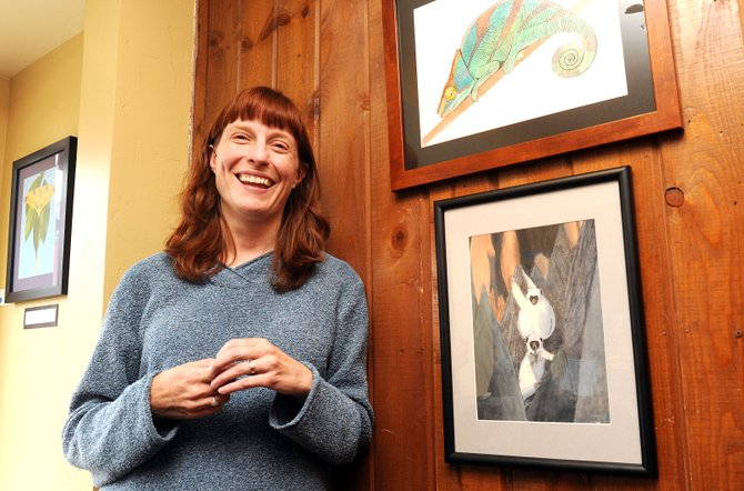 Janelle Shuler's paintings will be on display through April at Off the Beaten Path Bookstore. The store also is hosting a writing workshop at 5 p.m. Tuesday and a Poetry Slam at 6 p.m. Thursday.