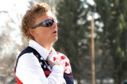 Steamboat Springs resident Lisa Watts sings the national anthem Friday at the 2011 Tax Day Freedom Rally hosted by the Bears Ears Tea Party Patriots at the Moffat County Courthouse.