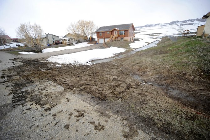 A water main broke Tuesday morning in front of a house at 40620 Anchor Way in Steamboat II.