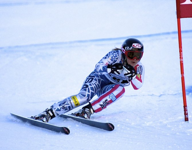 Steamboat Springs skier Anna Marno races to a second-place finish in a giant slalom event in Panorama, British Columbia. Marno, 18, tore her ACL in February during a race in Aspen and will be out for six to nine months.