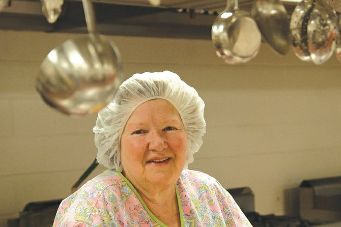 Mary Buchanan, food service supervisor at the Moffat County Jail, stands Friday in the jail's kitchen. The Moffat County Sheriff's Office named Buchanan its Civilian Employee of the Year in 2008 due to her friendliness and willingness to help.