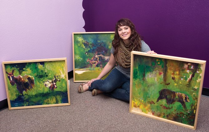 Artist Kelli Poole will host an opening for her work from 5 to 8 p.m. today at Creekside Cafe in downtown Steamboat Springs. Poole's art depicts local wildlife.