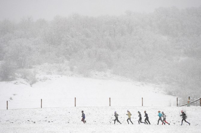 Snow was falling throughout last year's Spirit Challenge race. The forecast appears to be better for this year's race, which will kick off the Steamboat Springs Running Series on Saturday with 5K and 10K races.
