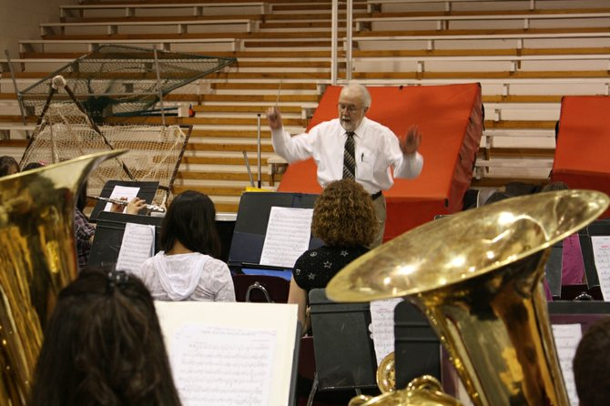 Craig Smith, the Craig Middle School band teacher, died Sunday at St. Mary's Hospital in Grand Junction. He is shown above rehearsing with the seventh-grade CMS band during a festival last month in Steamboat Springs.