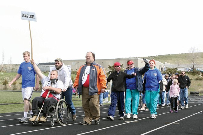 Members of Craig's team participate in the opening ceremonies for last year's Special Olympics Colorado Western Area Summer Games at the Moffat County High School track. This year's Summer Games begin at 9 a.m. Saturday at the high school, 900 Finley Lane.