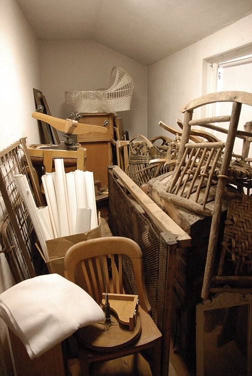Storage items pile up in the Museum of Northwest Colorado's unimproved space on the building's west end. Museum director Dan Davidson said some of the museum's $1.2 million windfall may be used to purchase offsite storage space.