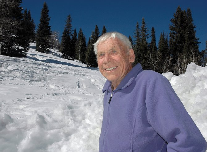Geologist and longtime Routt County resident Bill Bowes enjoys the backyard of his family's Strawberry Park home in 2006. Bowes died Monday of a sudden illness.