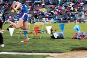 Lauren Roberts, a Moffat County High School senior, competes in long jump Friday during the 4A state meet at Jeffco Stadium in Lakewood. Roberts jumped 16 feet, 4 inches, to take eighth place and medal in the last event in her high school career