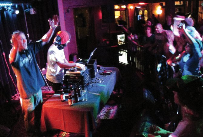 DJ Jeraff and DjMT head to The Boathouse Pub on Sunday night for another dubstep dance party. The duo have been DJ-ing together since fall.