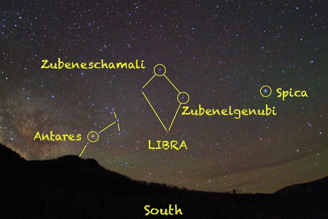 Look for the misfit constellation of Libra the Scales high in the southern sky around 10 p.m. in early June.
