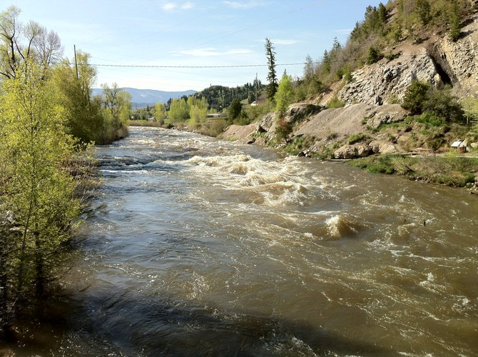 The Yampa River had not reached flood stage as of Wednesday morning.