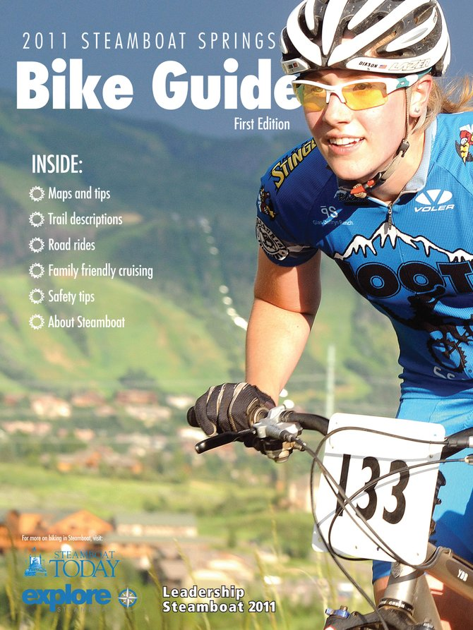 The 2011 Steamboat Springs Bike Guide features everything from trail maps and ride descriptions to bike-safety tips, a cycling events calendar, and information about community cycling programs and initiatives.
