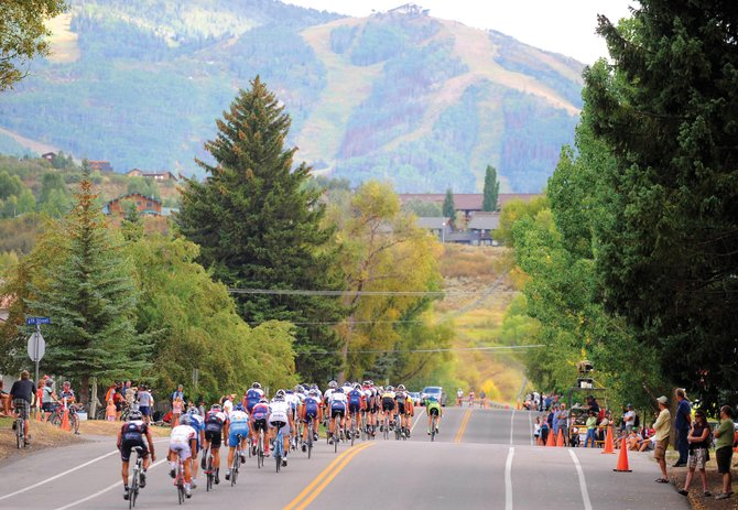 Mount Werner will loom large for the television cameras covering the inaugural USA Pro Cycling Challenge when it comes into Steamboat Springs on Aug. 26. The stage routes for the seven-day race were announced Monday. Above, riders compete in the Steamboat Springs Stage Race last year.