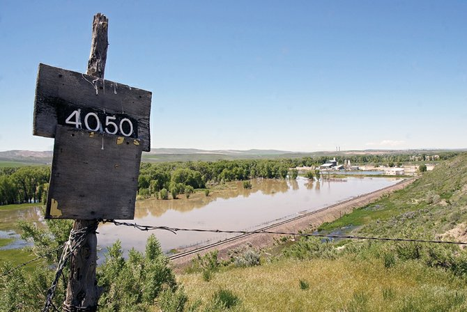 The Yampa River overflows from this vantage point on U.S. Highway 40 east of Craig.