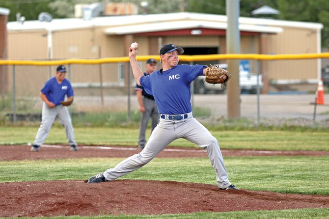 Bubba Ivers pitches for the American Legion Post 62 baseball team last season at Craig Middle School. Head coach Justin Folley said Ivers, as well as incoming seniors Carlos Maldonado and Ivan Nielson, would be the leaders of a young squad this summer.