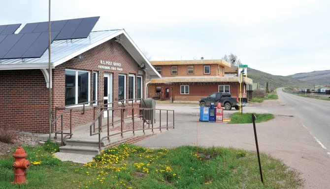 The Phippsburg post office is a fixture on Main Street. The post office is being considered for discontinuance. A United States Postal Service review coordinator met with Phippsburg residents and representatives of Routt County on Wednesday.
